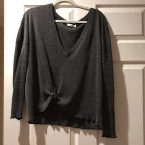 Sweaters - Black and white v neck sweater